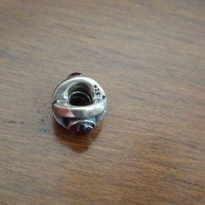 Pandora birthday bead garnet
